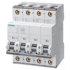 Circuit breaker Siemens 4P 63A) 15kA Type C 4...