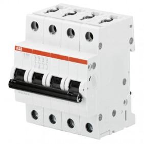 Circuit breaker-ABB 4P 6A 6 ka Type C 4 Modules...