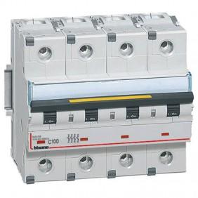 Bticino circuit breaker-4P C 100A 16kA 6...