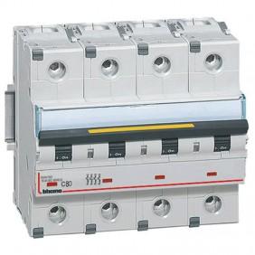 Bticino circuit breaker-4P C 80A 16kA 6 modules...