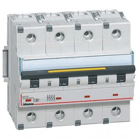 Bticino interruttore magnetotermico 4P C 80A...