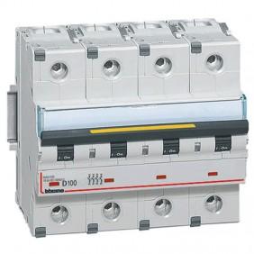 Bticino circuit breaker-4P D 100A 16kA 6...