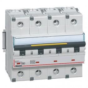 Bticino circuit breaker-4P D 80A 16kA 6 modules...