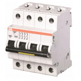 Circuit breaker-ABB 4P 10A to 25kA Type C 4...