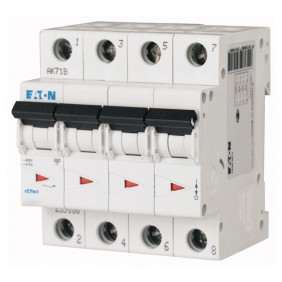 Interruttore magnetotermico Eaton 25A 4 poli...