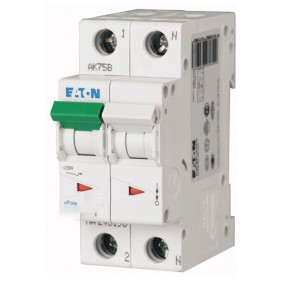 Interruttore magnetotermico Eaton 6A 1P+N 4,5KA...