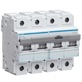 Interrupteur magnétothermique Hager 4P 80A 10KA...