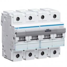 Circuit breaker Hager 4P 100A 10KA C 6 modules...