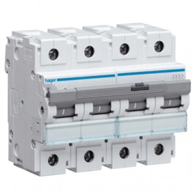 Circuit breaker Hager 4P 125A 10KA C 6 modules...