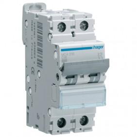 Circuit breaker Hager 2P 16A 6 KA C 2 modules...