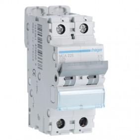 Circuit breaker Hager 2P 25A 6 KA C 2 modules...