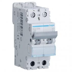 Circuit breaker Hager 2P 32A 6 KA C 2 modules...