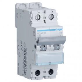 Circuit breaker Hager 2P 40A 6 KA C 2 modules...