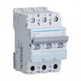 Interruttore magnetotermico Hager 3P 25A 6KA C...