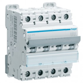 Circuit breaker Hager 4P 10A 6 KA C 4 modules...