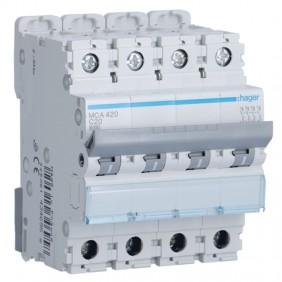 Circuit breaker Hager 4P 20A 6 KA C 4 modules...