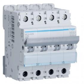 Circuit breaker Hager 4P 25A 6 KA C 4 modules...
