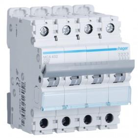 Circuit breaker Hager 4P 32A 6 KA C 4 modules...
