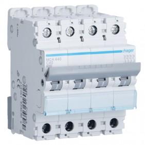 Circuit breaker Hager 4P 40A 6 KA C 4 modules...
