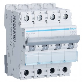 Circuit breaker Hager 4P 50A 6 KA C 4 modules...