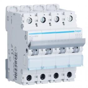 Circuit breaker Hager 4P 63A 6 KA C 4 modules...