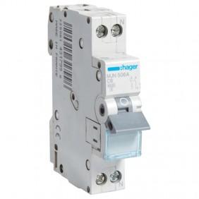 Circuit breaker Hager 1P+N 6A 4,5 KA C 1 form...