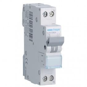 Circuit breaker Hager 1P+N 16A 4.5 KA C 1 form...