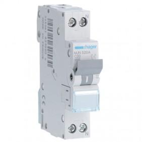 Circuit breaker Hager 1P+N 20A 4.5 KA C 1 form...