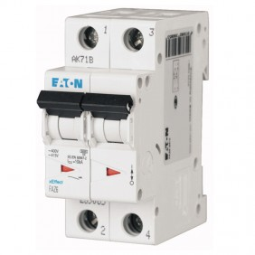 Interruttore magnetotermico Eaton 16A 2 poli...