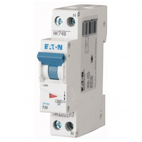 Circuit breaker-Eaton 20A 1P+N 4.5 KA 1 modules...