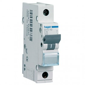 Circuit breaker Hager 1P 10A 4.5 KA C 1 form...