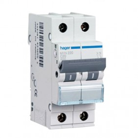 Circuit breaker Hager 2P 20A 4.5 KA C 2...