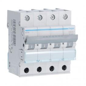 Circuit breaker Hager 4P 6A 4,5 KA C 4 modules...