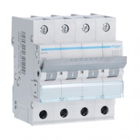 Interruttore magnetotermico Hager 4P 6A 4,5KA C...