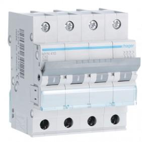 Circuit breaker Hager 4P 10A 4.5 KA C 4 modules...