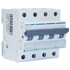 Circuit breaker Hager 4P 16A 4.5 KA C 4 modules...