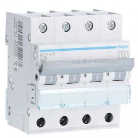 Circuit breaker Hager 4P 25A 4.5 KA C 4 modules...