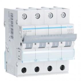 Circuit breaker Hager 4P 32A 4.5 KA C 4 modules...