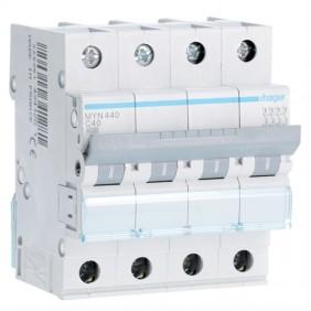 Circuit breaker Hager 4P 40A 4.5 KA C 4 modules...