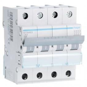 Circuit breaker Hager 4P 63A 4.5 KA C 4 modules...