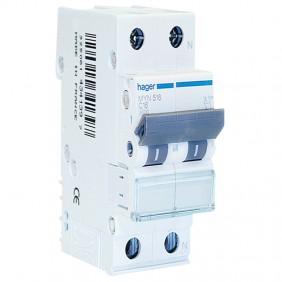 Circuit breaker Hager 1P+N 16A 4.5 KA C 2...
