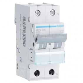 Circuit breaker Hager 1P+N 25A 4.5 KA C 2...