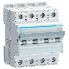Circuit breaker Hager 4P 16A 10KA C 4 modules...
