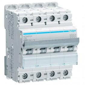 Circuit breaker Hager 4P 20A 10KA C 4 modules...