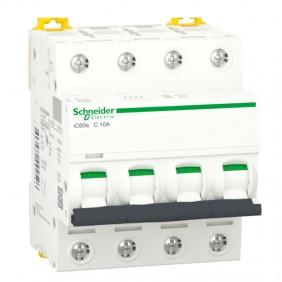 Circuit breaker-Schneider 4P 10A 4.5 KA C 4...