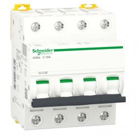 Circuit breaker-Schneider 4P 16A 4.5 KA C 4...