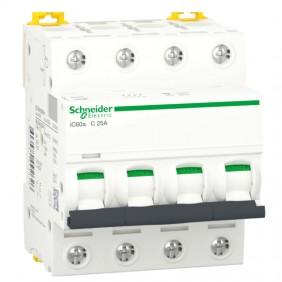 Circuit breaker-Schneider 4P 25A 4.5 KA C 4...