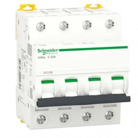 Circuit breaker-Schneider 4P 32A 4.5 KA C 4...