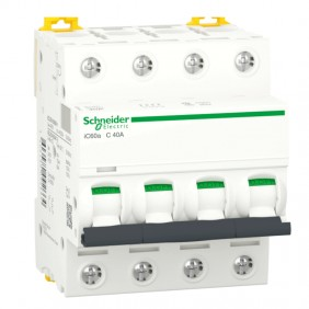 Circuit breaker-Schneider 4P 40A 4.5 KA C 4...