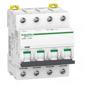 Circuit breaker-Schneider 4P 20A 6 KA C 4...